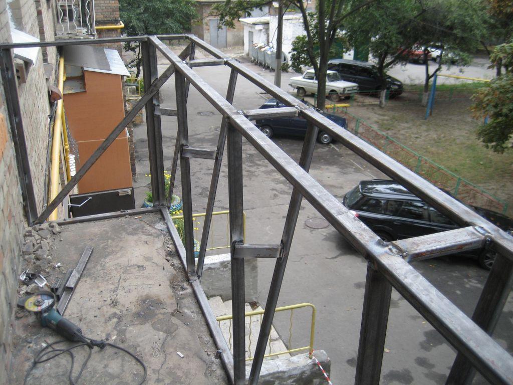 Как сварить металлический каркас на балконе. - как установит.